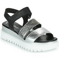 Schoenen Dames Sandalen / Open schoenen Gabor 6461061 Zwart / Wit / Zilver