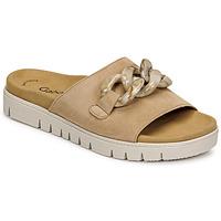 Schoenen Dames Leren slippers Gabor 6374314 Caramel