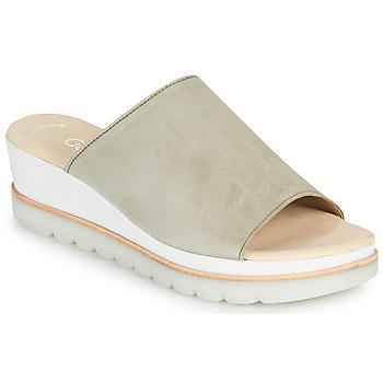 Schoenen Dames Leren slippers Gabor 6464319 Taupe