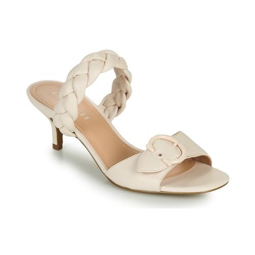 Schoenen Dames Leren slippers Coach MOLLIE Ivory