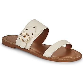 Schoenen Dames Leren slippers Coach HARLOW Ivory