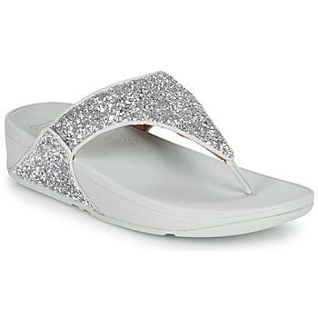 Schoenen Dames Slippers FitFlop LULU GLITTER Zilver
