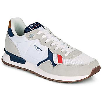 Schoenen Heren Lage sneakers Pepe jeans BRITT MAN BASIC Wit / Beige