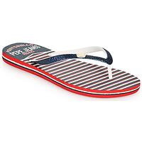 Schoenen Dames Slippers Pepe jeans RAKE SAILOR Blauw / Wit / Rood