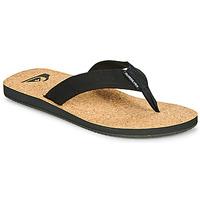 Schoenen Heren Slippers Quiksilver MOLOKAI ABYSS NATURAL Zwart