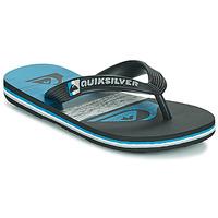 Schoenen Kinderen Slippers Quiksilver MOLOKAI PANEL YOUTH Zwart / Blauw