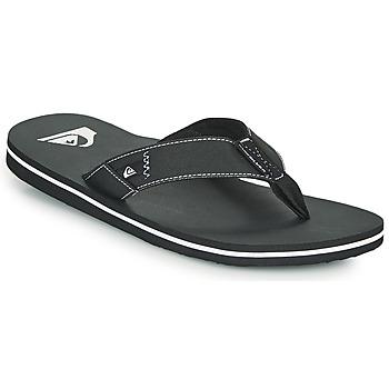 Schoenen Heren Slippers Quiksilver MOLOKAI ABYSS Zwart