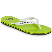 Schoenen Heren Slippers Quiksilver MOLOKAI Groen / Wit