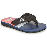Schoenen Kinderen Slippers Quiksilver MOLOKAI LAYBACK YOUTH Blauw / Orange / Zwart
