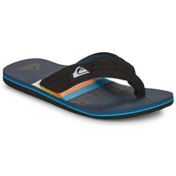 Schoenen Kinderen Slippers Quiksilver MOLOKAI LAYBACK YOUTH Zwart / Blauw