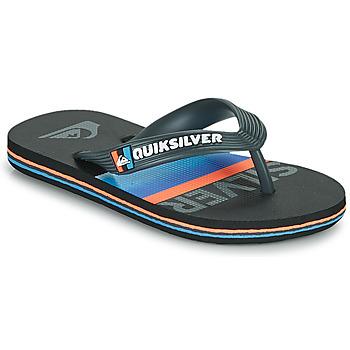 Schoenen Kinderen Slippers Quiksilver MOLOKAI SLAB YOUTH Zwart / Blauw