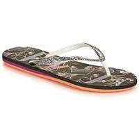 Schoenen Dames Slippers Roxy PORTOFINO III Zwart / Print
