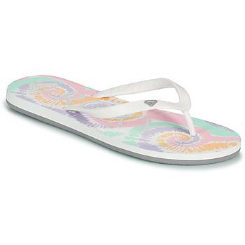 Schoenen Dames Slippers Roxy TAHITI VII Wit / Roze