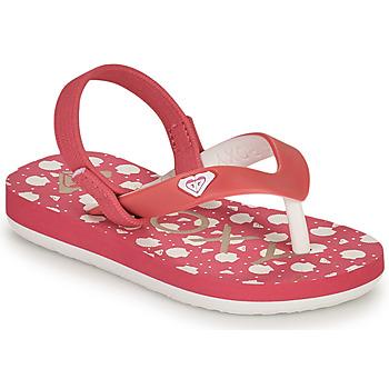 Schoenen Meisjes Slippers Roxy TW TAHITI VI Roze