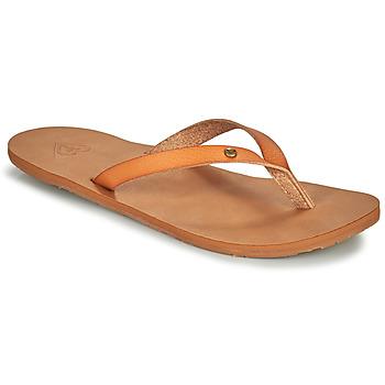 Schoenen Dames Slippers Roxy JYLL III  camel