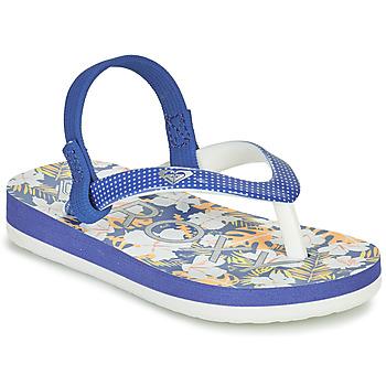 Schoenen Meisjes Slippers Roxy TW PEBBLES VI Blauw