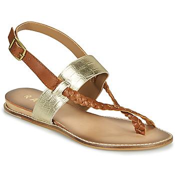 Schoenen Dames Sandalen / Open schoenen Ravel LUNA Goud /  camel