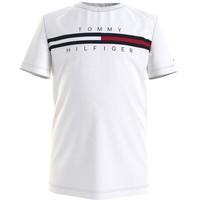 Textiel Jongens T-shirts korte mouwen Tommy Hilfiger KB0KB06532-YBR Wit