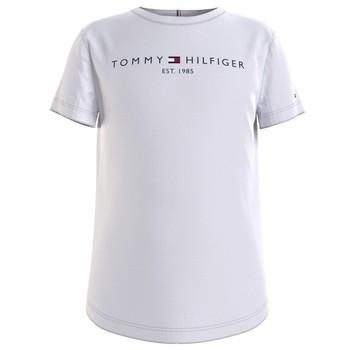 Textiel Meisjes T-shirts korte mouwen Tommy Hilfiger KG0KG05242-YBR Wit