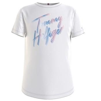 Textiel Meisjes T-shirts korte mouwen Tommy Hilfiger KG0KG05870-YBR Wit