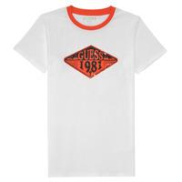 Textiel Jongens T-shirts korte mouwen Guess L1GI09-K8HM0-TWHT Wit
