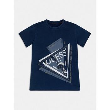 Textiel Jongens T-shirts korte mouwen Guess L1RI15-K8GA0-F233 Blauw