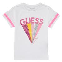 Textiel Meisjes T-shirts korte mouwen Guess K1RI04-K6YW1-TWHT Wit