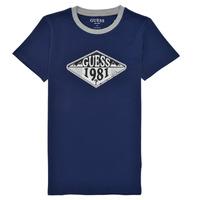 Textiel Jongens T-shirts korte mouwen Guess L1GI09-K8HM0-DEKB Marine