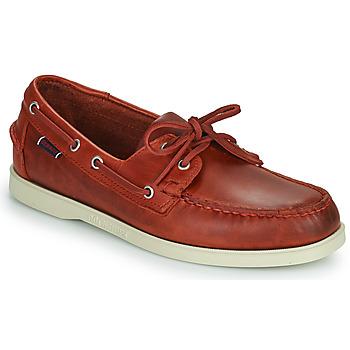 Schoenen Heren Bootschoenen Sebago PORTLAND WAXED Rood