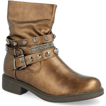 Schoenen Dames Enkellaarzen H&d L88-218 Marron
