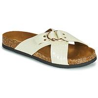 Schoenen Dames Leren slippers Only MAXI 2 Wit