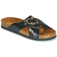 Schoenen Dames Leren slippers Only MAXI 2 Zwart