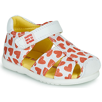 Schoenen Meisjes Sandalen / Open schoenen Agatha Ruiz de la Prada HAPPY Wit / Rood