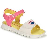 Schoenen Meisjes Sandalen / Open schoenen Agatha Ruiz de la Prada SMILEY Wit / Roze