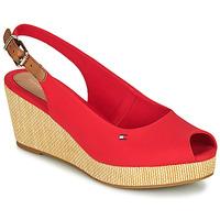 Schoenen Dames Sandalen / Open schoenen Tommy Hilfiger ICONIC ELBA SLING BACK WEDGE Orange