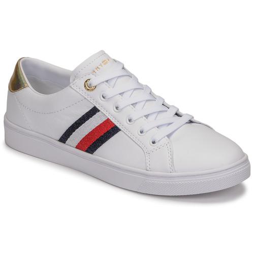 Schoenen Dames Lage sneakers Tommy Hilfiger TH CORPORATE CUPSOLE SNEAKER Wit