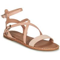 Schoenen Dames Sandalen / Open schoenen Tommy Hilfiger ESSENTIAL TOMMY FLAT SANDAL Cognac