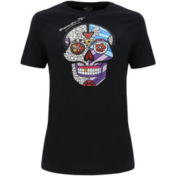 Textiel Dames T-shirts & Polo's Freddy F0WBRT2 Zwart