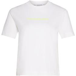 Textiel Dames T-shirts & Polo's Calvin Klein Jeans J20J214220 Wit