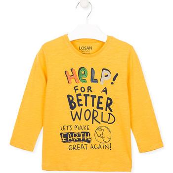 Textiel Kinderen T-shirts & Polo's Losan 025-1005AL Geel