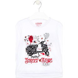 Textiel Kinderen T-shirts & Polo's Losan 026-1000AL Wit