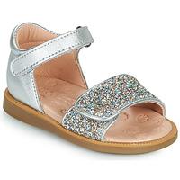 Schoenen Meisjes Sandalen / Open schoenen Acebo's 1232-PLATA Zilver