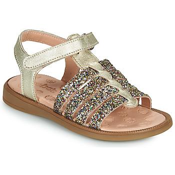 Schoenen Meisjes Sandalen / Open schoenen Acebo's 5498GE-PLATINO-J Goud
