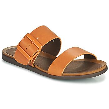 Schoenen Dames Leren slippers Art LARISSA Brown