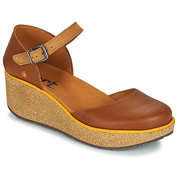 Schoenen Dames Leren slippers Art PARMA Brown