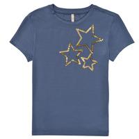 Textiel Meisjes T-shirts korte mouwen Only KONMOULINS STAR Blauw