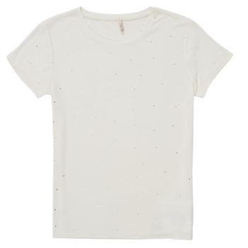 Textiel Meisjes T-shirts korte mouwen Only KONMOULINS Wit