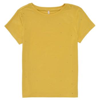 Textiel Meisjes T-shirts korte mouwen Only KONMOULINS Geel
