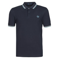 Textiel Heren Polo's korte mouwen Fred Perry TWIN TIPPED FRED PERRY SHIRT Marine / Wit / Blauw