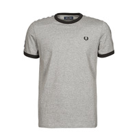 Textiel Heren T-shirts korte mouwen Fred Perry TAPED RINGER T-SHIRT Grijs